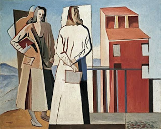 Some of Magnelli's works, such as The Readers (1931), had  echoes of the Metaphysical movement in Italian art