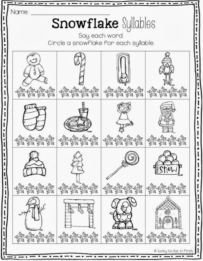 Winter Worksheets – Winter Worksheets for First Grade
