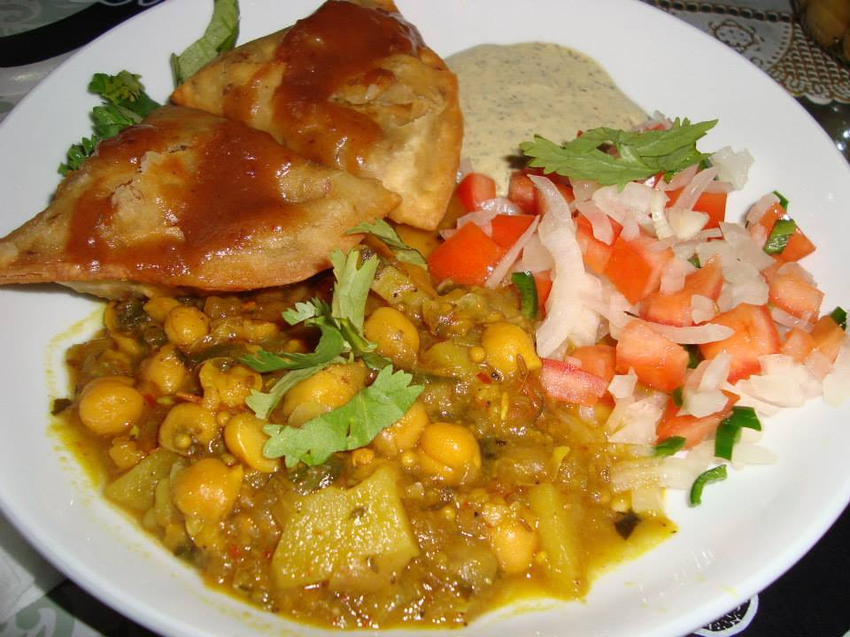 Pakistani Kitchen Samosa Chaat