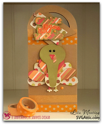 Created In the Crafting Cave with Lisa SVG Attic Treat Bag with Thankful Friends