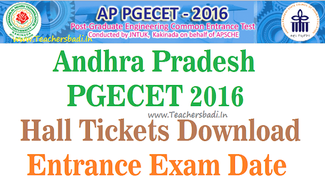 AP PGECET,Hall Tickets, Exam dates