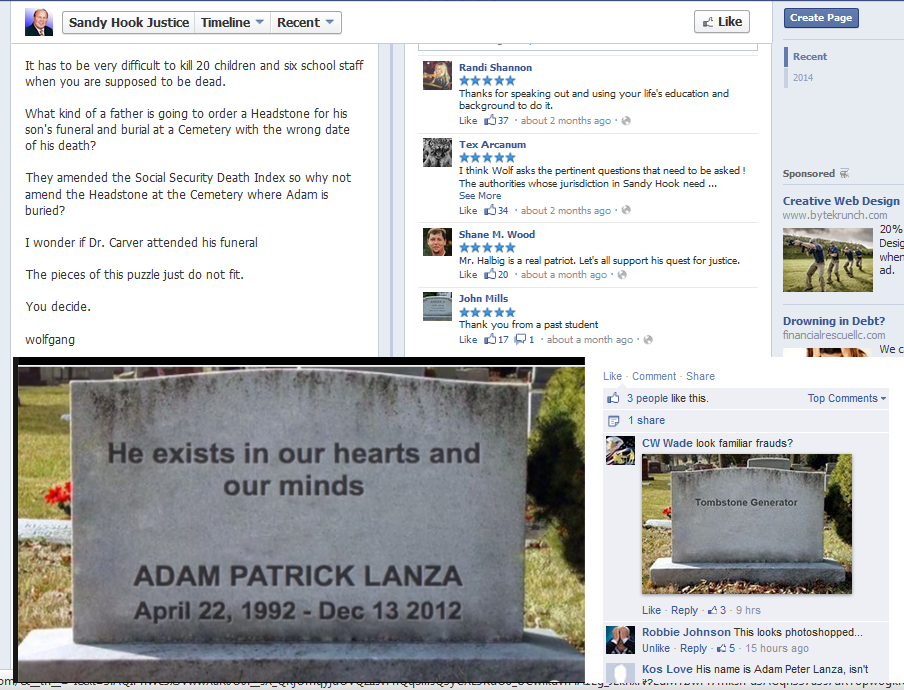 Sandy Hook massacre | Fellowship Of The Minds | Page 6  |Adam Lanza Obituary