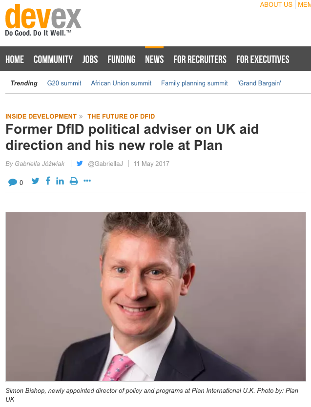 dfid business plan