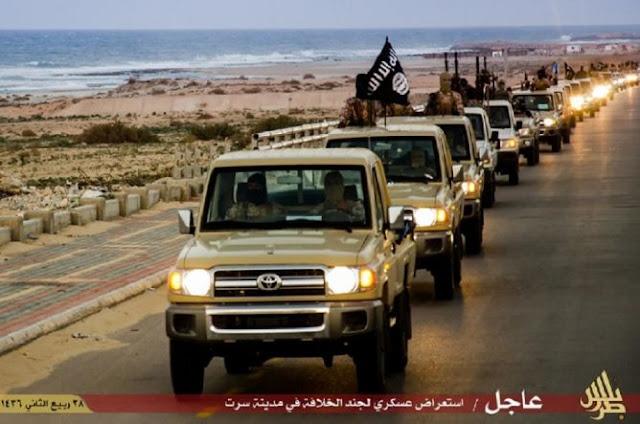 Serangan Pesawat Misterius Hancurkan Konvoi ISIS di Libya