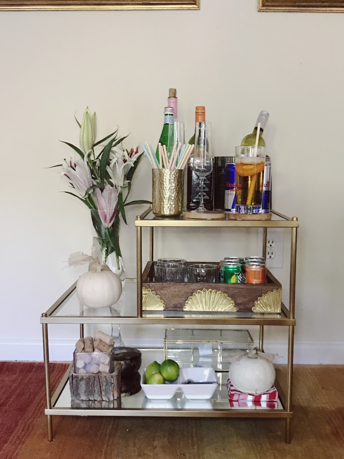 how to style a bar cart, bar cart essentials , holiday prepaeration, thanksgiving party ideas, dining room decor, west elm terrace table, style, lifetstyle blog, myriad musings