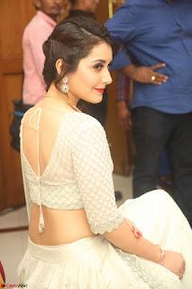 Raashi Khanan looks stunning in Crop Top Deep neck Choli Ghagra Transparent Chunni WOW ~  Exclusive Celebrities Galleries 016