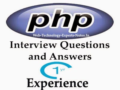 PHP interview questions and answers for 1 year experience Web - technology interview questions