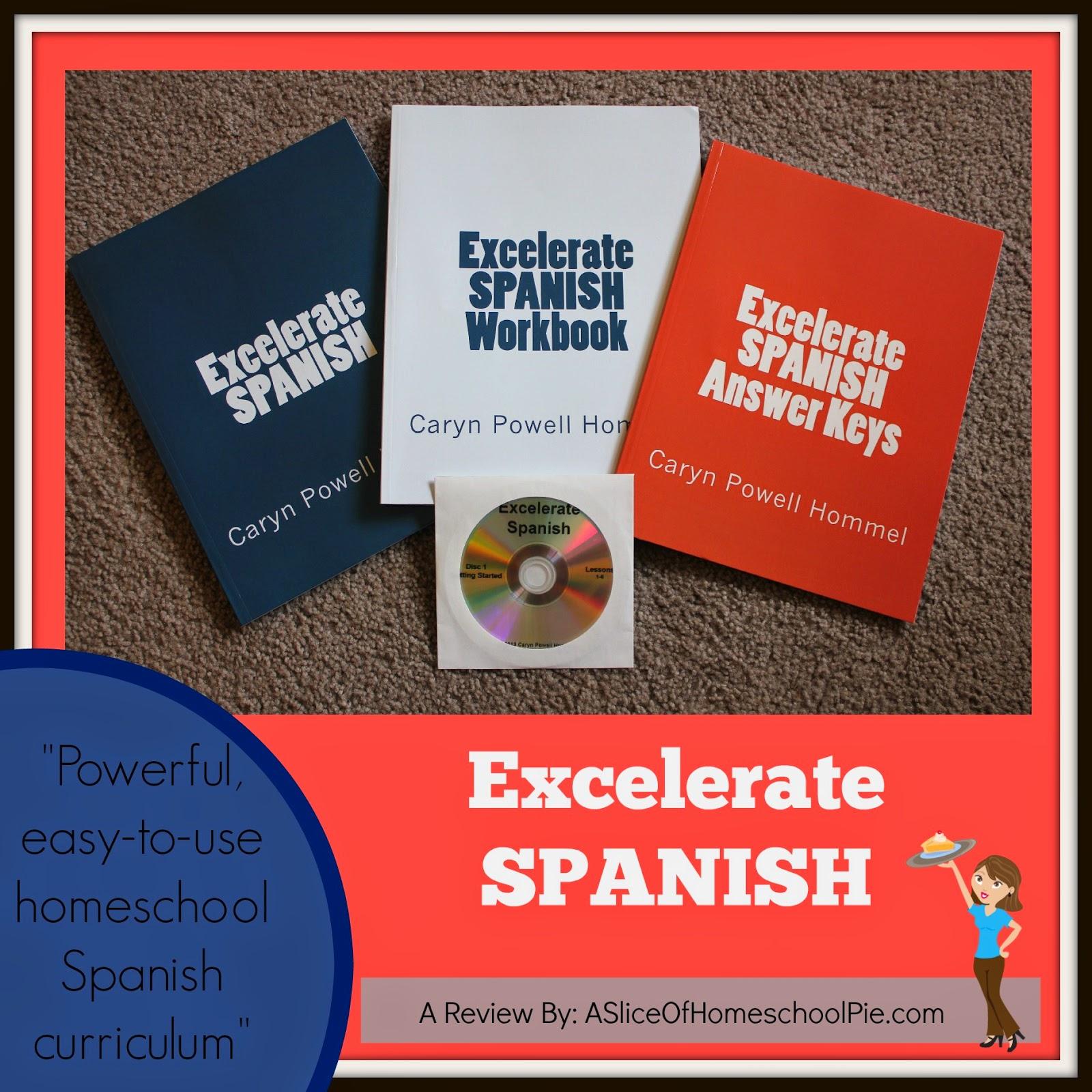 A Slice of Homeschool Pie: Excelerate Spanish - A Homeschool