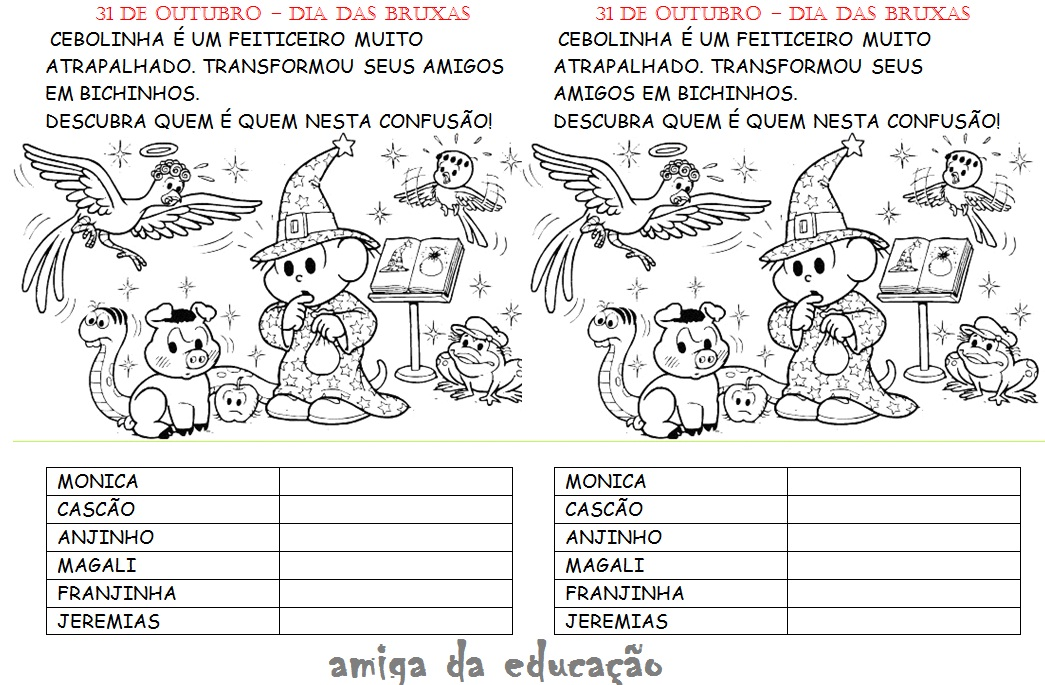 Atividades Para Colorir Infantil: Atividade Dia Das Bruxas