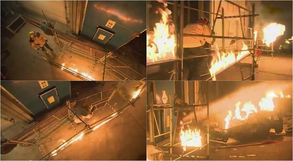 Fear Factor Khatron Ke Khiladi Darr Ka Blockbuster Climax Stunt made a contestant cross a fire way