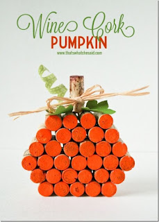Make A Wine Cork Pumpkin
