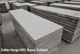 Daftar Harga GRC Board Terbaru