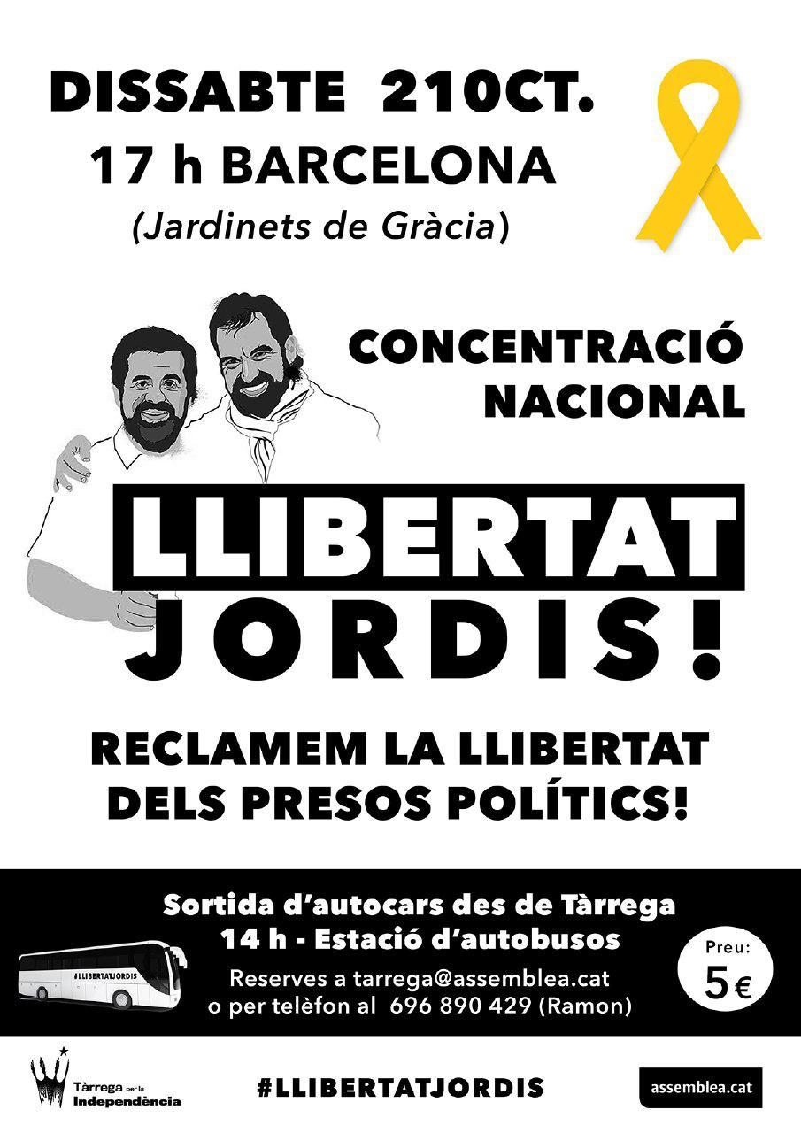 Autocars a Barcelona: #LlibertatJordis