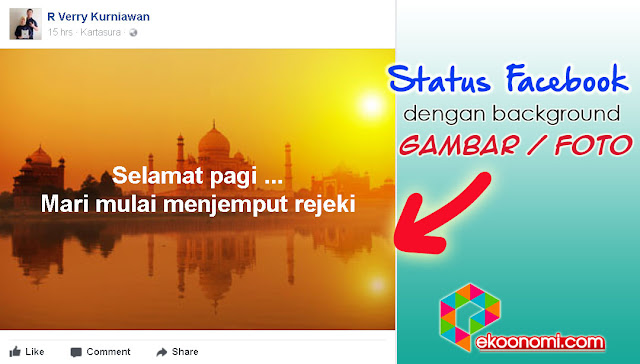 Cara Update Status Facebook Background Gambar Foto