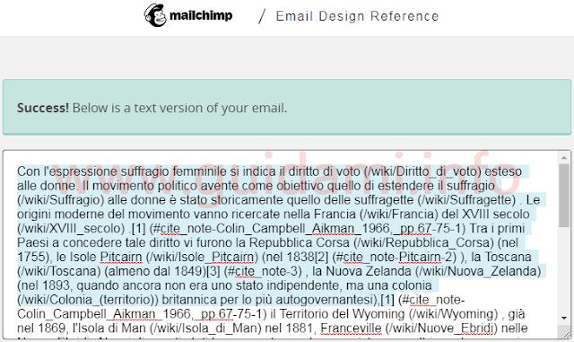 Testo normale ottenuto con la conversione del testo HTML della sorgente pagina dell'articolo di Wikipedia