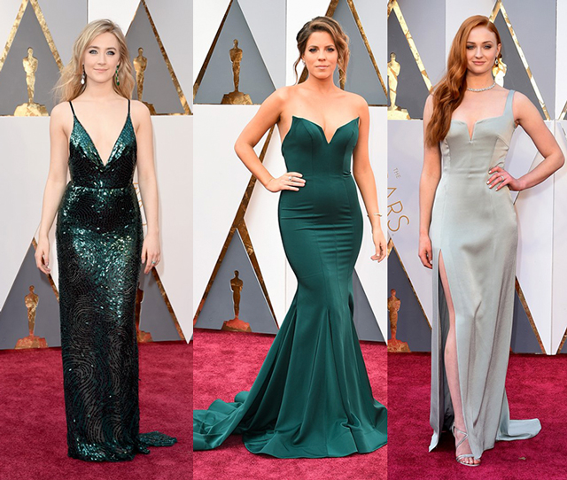 Oscar 2016: Saoirse Ronan , Stephanie Bauer,  Sophie Turner(Foto: Getty Images)