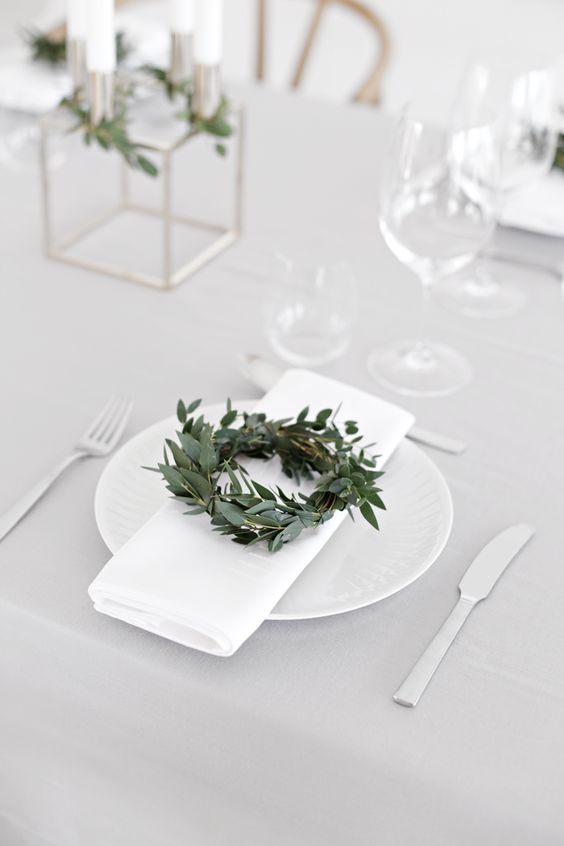 image result for farmhouse place setting table minimal white