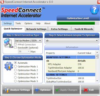 gui SpeedConnect Internet Accelerator