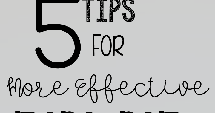 Upper Elementary Snapshots: 5 Tips for More Effective