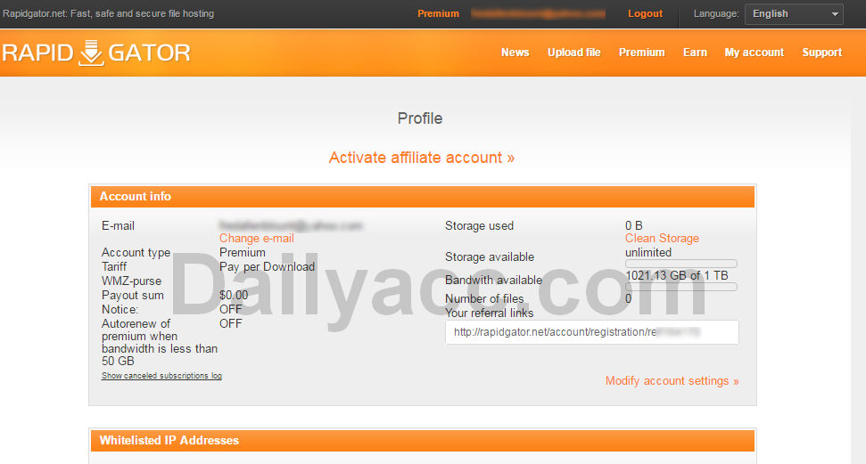 Rapidgator net premium account - FOREX Trading