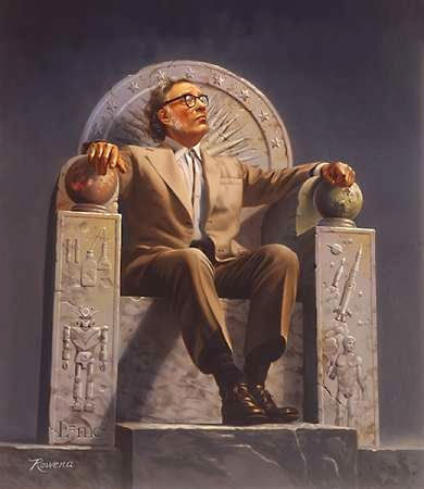 fan art of isaac asimov