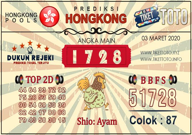 Prediksi Togel HONGKONG TIKETTOTO 03 MARET 2020