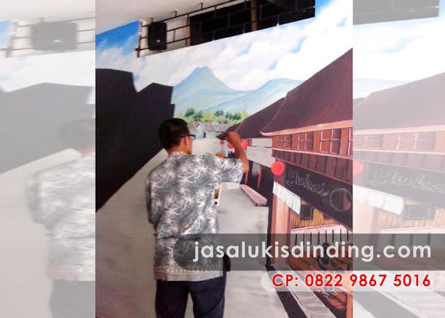 Lukisan pemandangan desa