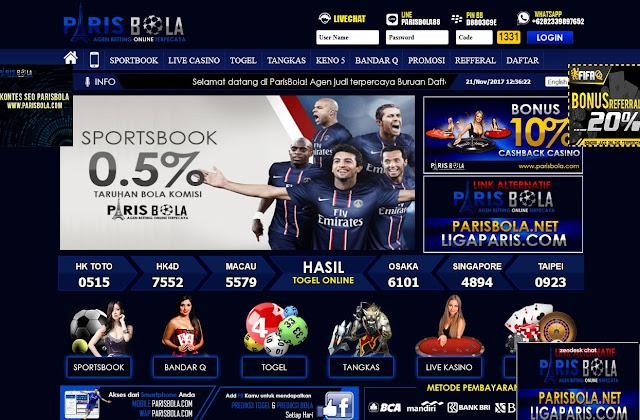 PARISBOLA.COM Sbobet | Bandarq | Bola Online | Togel Online | Live Casino