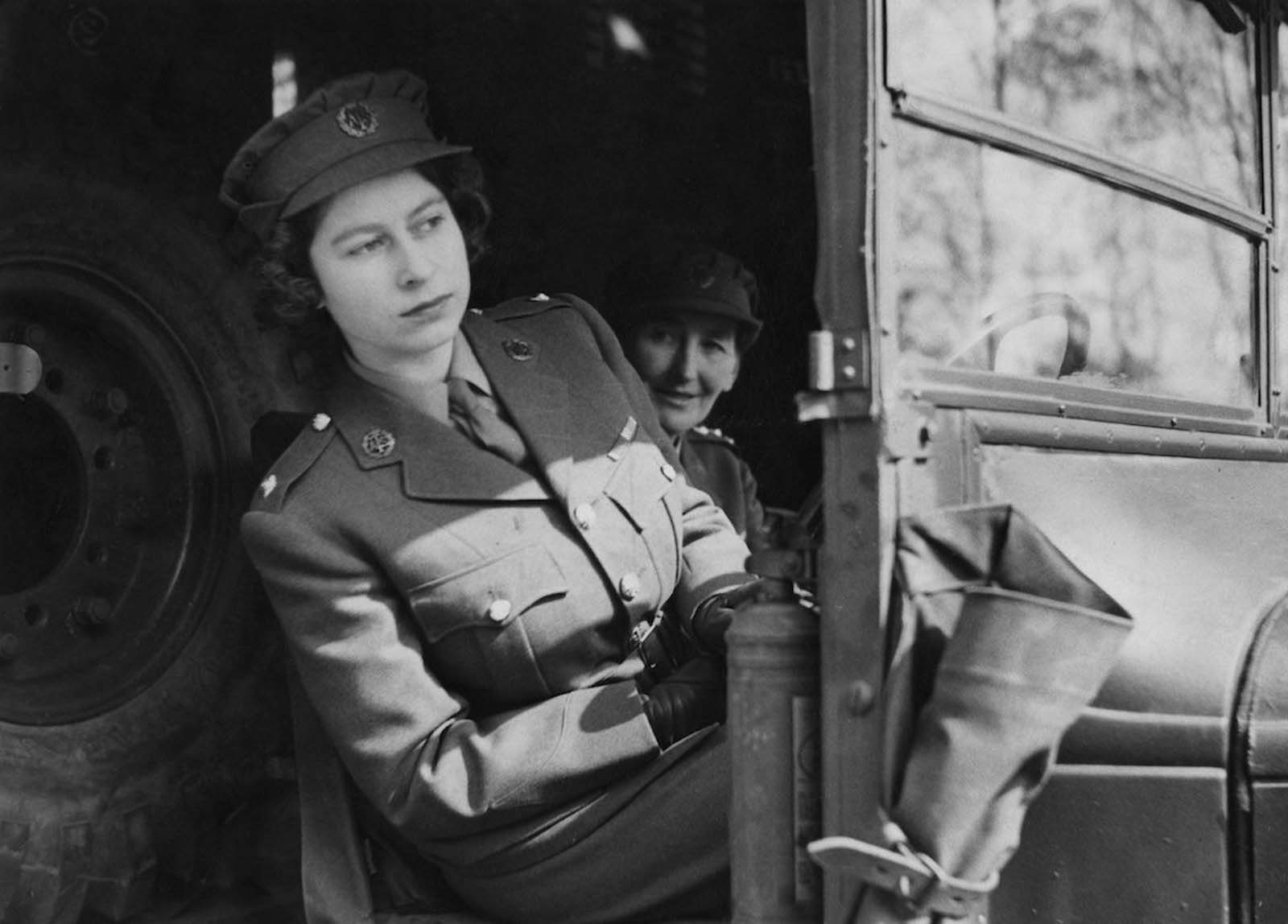 Queen Elizabeth II in 1945.