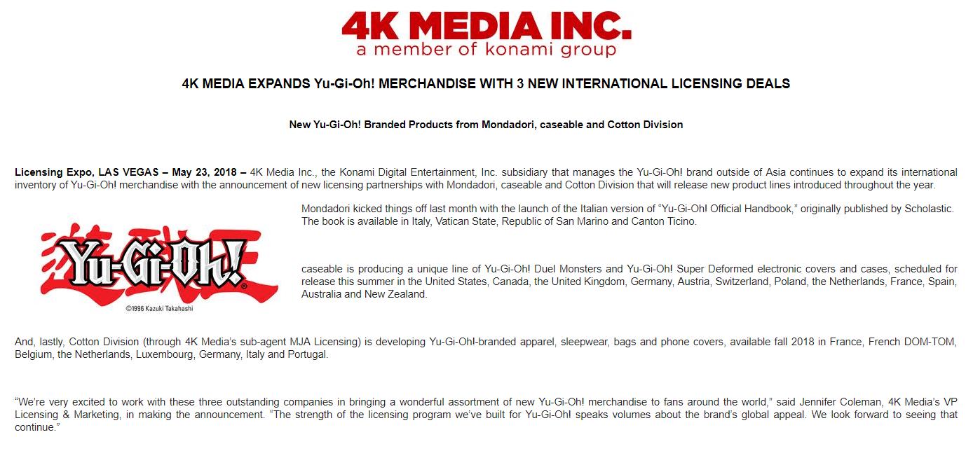 4KMedia] New Licensing Deals | YuGiOh! Cobra Kai Store