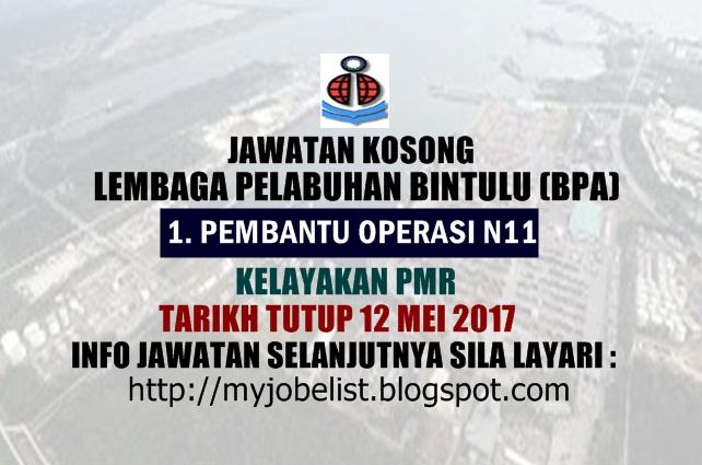 Jawatan Kosong Lembaga Pelabuhan Bintulu (BPA) Mei 2017
