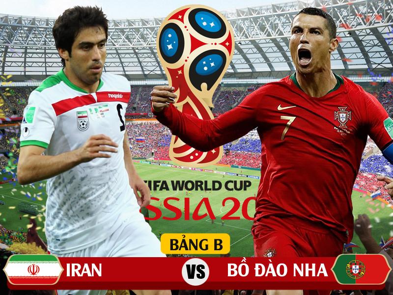 Xem trực tiếp Iran vs Bồ Đào Nha: Tử chiến ở Saransk