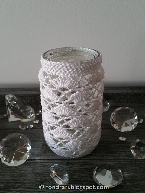 Crochet Jar Cover #2 - free pattern
