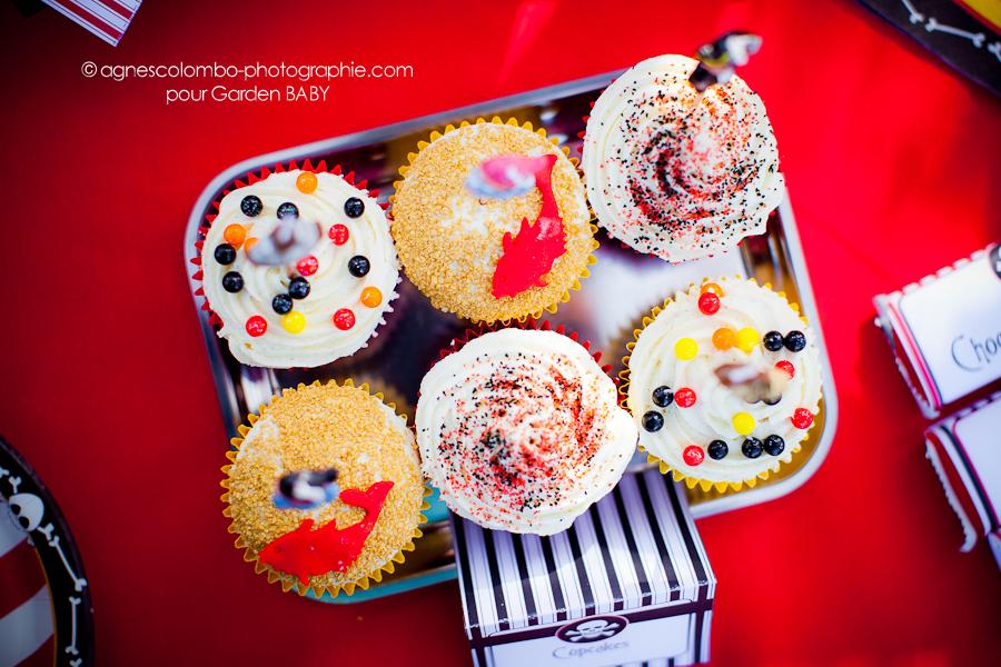 cupcake decores avec couleurs