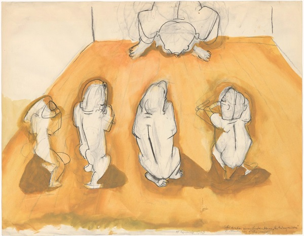 "Maria Lassnig - Illustration of a Thought – ""Les Antagonistes"", 1963"
