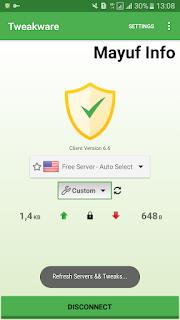 Cara Menggunakan Kuota Aplikasi Tweakware Internet Gratis Terbaru