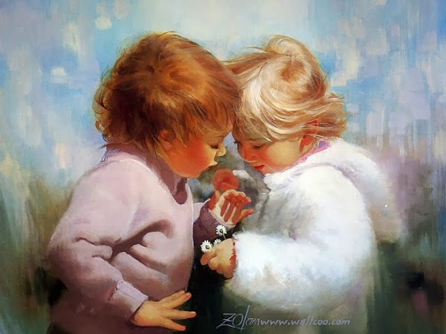 Image result for beautiful baby oil painting
