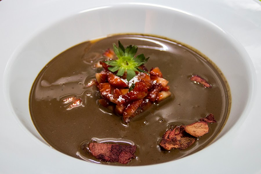 Sopa fria de chocolate