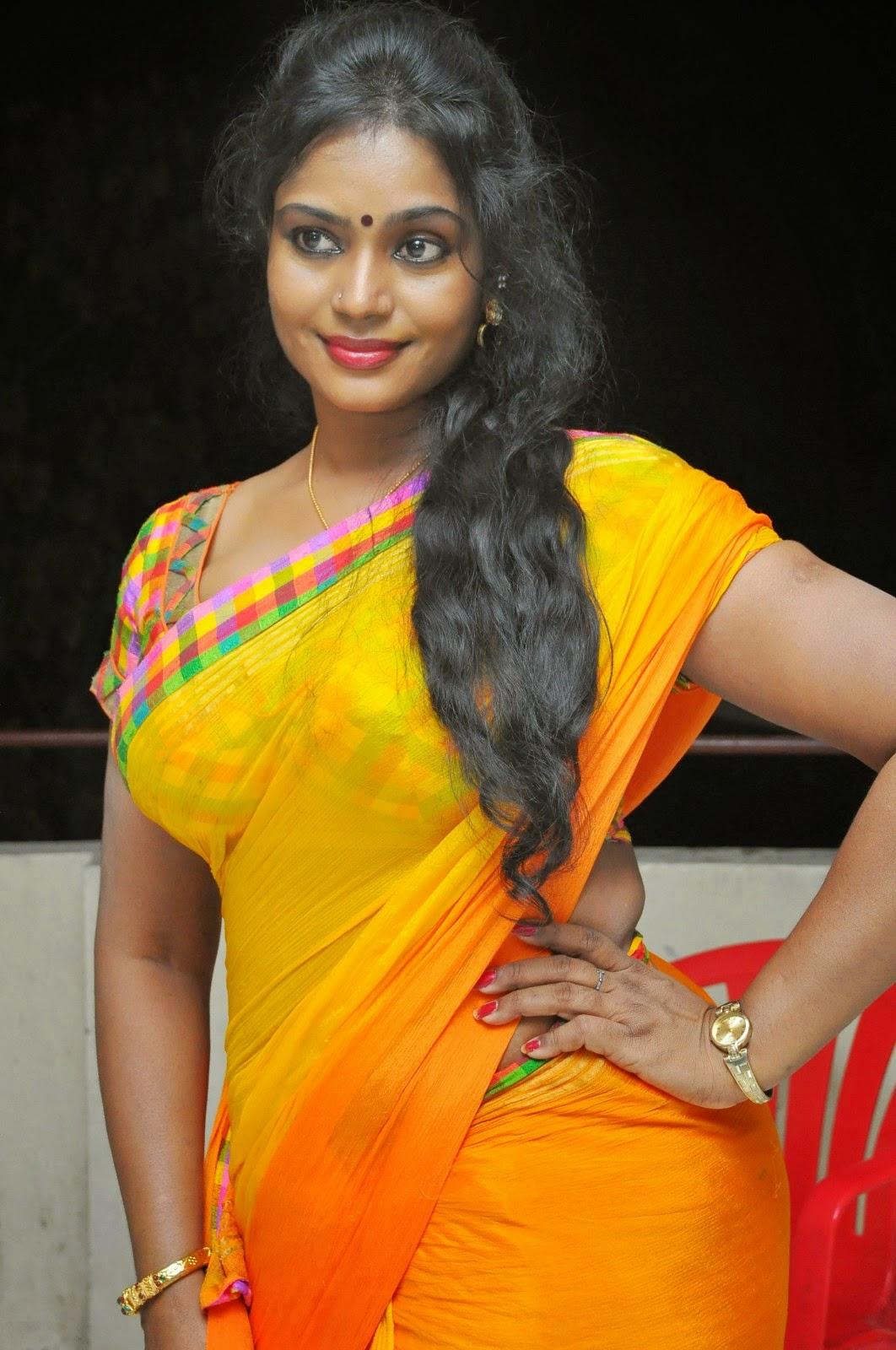 Jayavani Latest Hot Saree Spicy Stills | Tollywood Idle