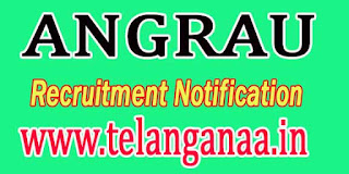 ANGRAU Guntur Recruitment Notification 2016
