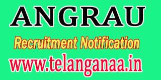 ANGRAU Guntur Recruitment Notification 2016