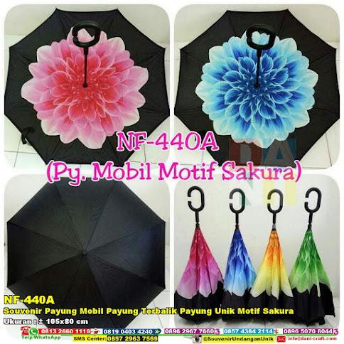 Souvenir Payung Mobil Payung Terbalik Payung Unik Motif Sakura