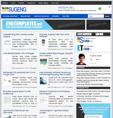 Template Blogger Mas Sugeng Seo Friendly Responsive