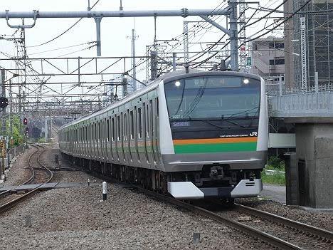 渋谷駅高架化工事に伴うE233系の普通 大崎行き