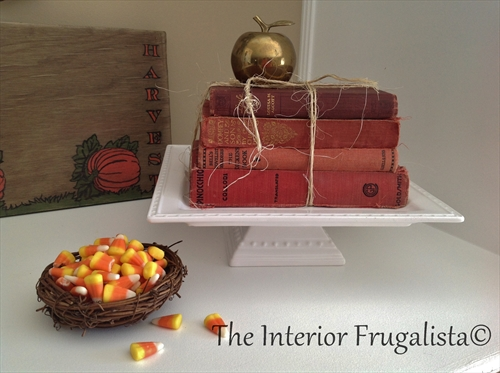Fall fireplace mantle vignette