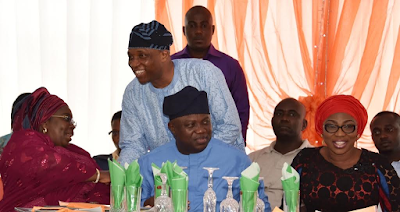 Gov Ambode and Bolonle  at international day of fmilies celebration