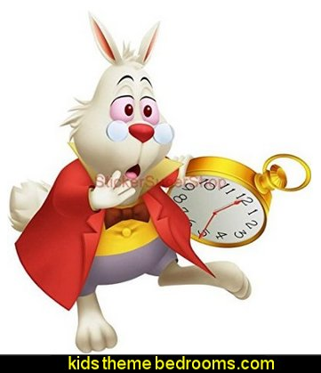 WHITE RABBIT Disney Decal WALL STICKER Home Decor Art Kids ALICE C165