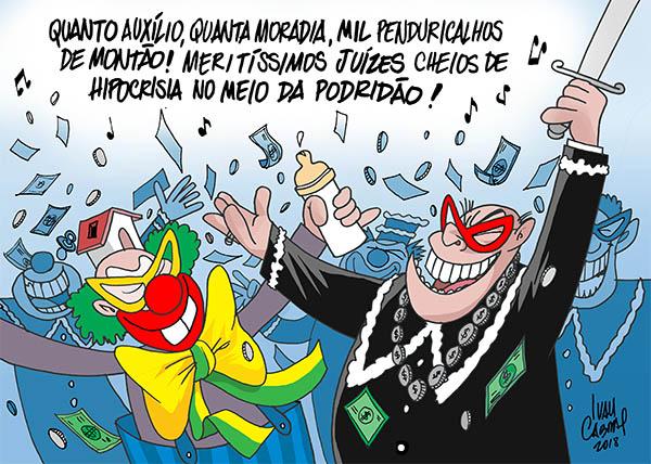 Sorriso Pensante-Ivan Cabral - charges e cartuns: Charge: Folia judiciária