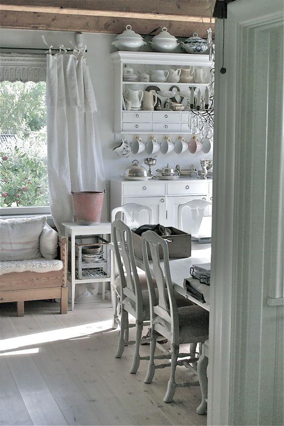 Swedish style interior design in farmhouse kitchen - found on Hello Lovely Studio