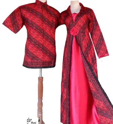 Model Dress Batik Orang Gemuk pasangan